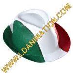 cappello borsalino italia in plastica, misura adulto.