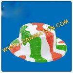 Paglietta in plastica metallizzata con i colori dell'Italia.
